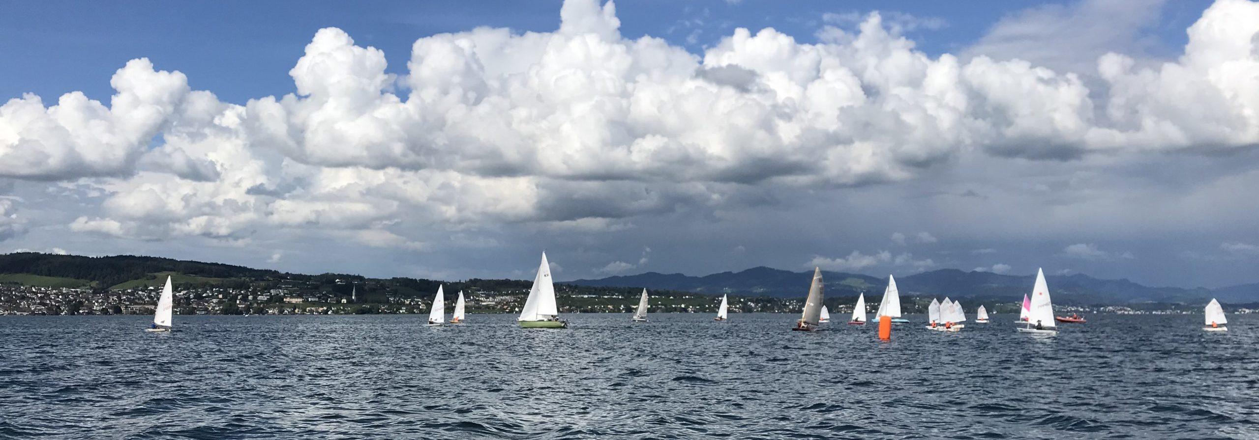 Abendregatta am 20.6.2020 mit besten Windverhältnissen und 18 Booten